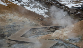 Gunnuhver Geothermal Field Iceland Royalty Free Stock Photo