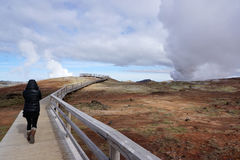 Gunnuhver hot spring landscape. In Iceland Royalty Free Stock Photography