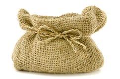 Gunny bag. The big brown gunny Image  on white studio background Royalty Free Stock Image