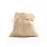 Gunny bag brown teapot On a white background taken in the studio Stock Photography