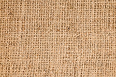 Gunny. Texture of light brown sackcloth use for background Stock Photo