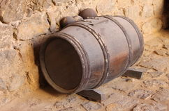 Gunpowder barrel. With a clipping path Royalty Free Stock Photography