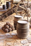 Gunpowder barrels Stock Image
