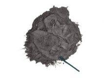 Gunpowder and fuse. Gunpowder and green fuse isolated royalty free stock image