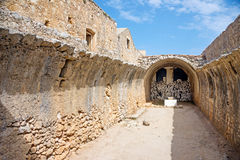 Gunpowder storage room of Arkadi Monastery Stock Photo