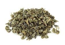 Gunpowder tea. Isolated on the white background royalty free stock photo