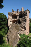 Gunpowder Tower. The ruins of the old gunpowder tower at Heidelberg castle still show how strong that building originally was. The French army blew it up during Stock Photos