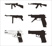 Guns. Illustration of a guns on a white background Stock Image