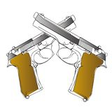 Guns. Illustration on white background (with vector EPS format Stock Image