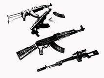 Guns ak  Royalty Free Stock Photos