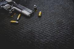 Black war weapon. royalty free stock photo
