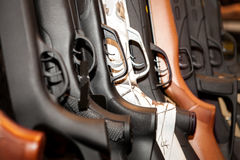 Guns arsenal collection Royalty Free Stock Images