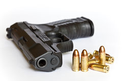 Guns and bullets Royalty Free Stock Photography
