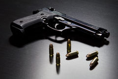 Guns and bullets Stock Photo
