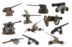 Guns and cannons Royalty Free Stock Photo
