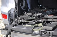 Guns in the car Royalty Free Stock Photos