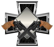 Guns on cross Royalty Free Stock Photo