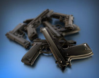 Guns Royalty Free Stock Photography