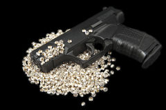 Guns and Diamonds Royalty Free Stock Images