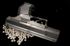 Guns & Diamonds Royalty Free Stock Photos