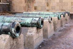 Guns in Erzurum. Castle in the city Erzurum, East Iran Royalty Free Stock Images