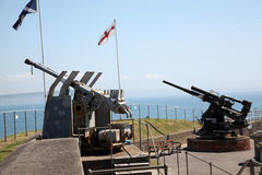 Guns at Fort Nothe Stock Images