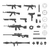 Guns and game elements icons Stock Photo