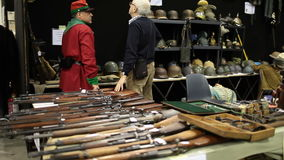 Guns And Helmets stock footage