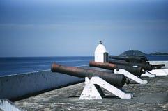 Guns of Ilha do Mel fort Royalty Free Stock Photo