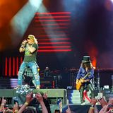 Guns n' Roses in concert Stock Images