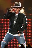 Guns N` Roses perform in concert stock photography