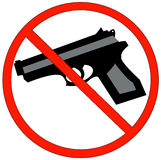 Guns prohibited Royalty Free Stock Photos
