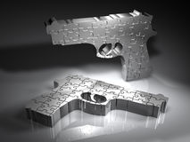 Guns - Puzzle - 3D Royalty Free Stock Image