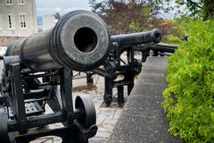 Guns on the Ramparts Stock Image