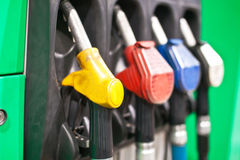 Guns for refueling car Stock Photography