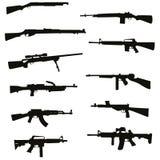 Guns set Stock Photography