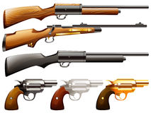 Guns set Stock Photo