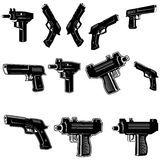 Guns set Royalty Free Stock Photography