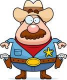 guns sheriffen Arkivbild