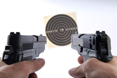 Guns shoot Royalty Free Stock Photos