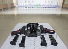 Guns shooting range Royalty Free Stock Photo