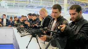 Military show during International Aviation and Space Salon  stock footage