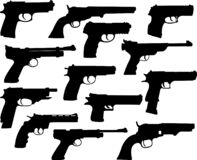 Guns silhouettes collection