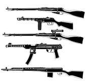 guns sovjet stock illustrationer