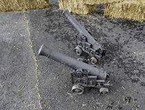 Guns of War. Details about guns in the street war Royalty Free Stock Images