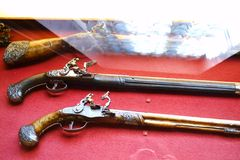 Guns War Western. In the Hermitage museum Stock Photography