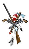 Guns of the wild West painted Royalty Free Stock Image