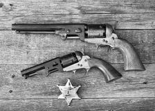 The guns that won the west. Royalty Free Stock Photography