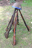 Guns from world war II. Old guns from world war II at open air musem in Banska Bystrica, Slovakia stock images