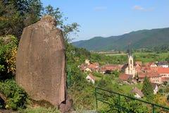 Gunsbach, dorp van de Elzas Stock Foto's